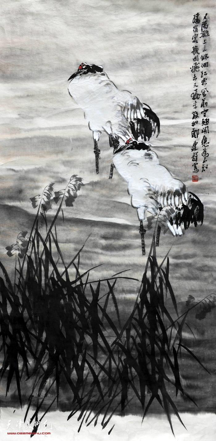 郑连群水境花鸟画