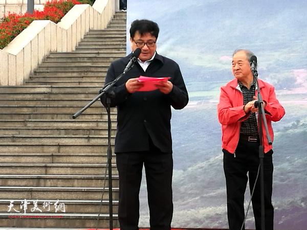 王书平作品展开幕仪式由天津市文联秘书长商移山主持。