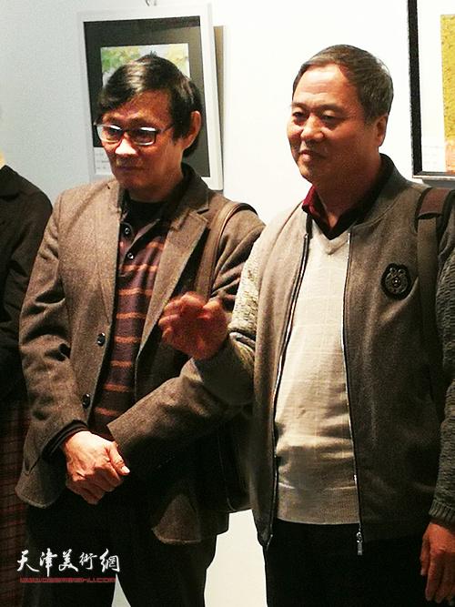 艺委会副主任邢立宏在展览开幕式上讲话