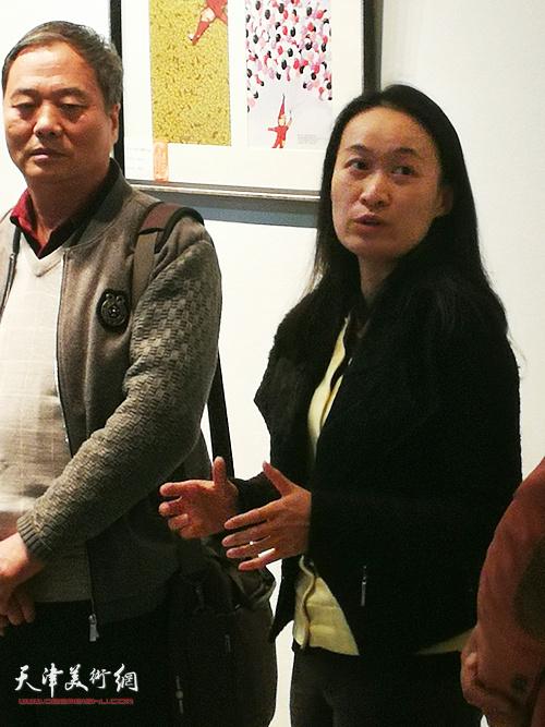 肖爱华在展览开幕式上讲话