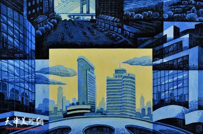 李英杰《崛起》版画 60×80cm