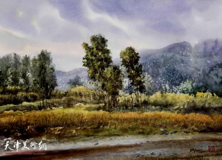 杨维刚《沿途风景》水彩56×76cm