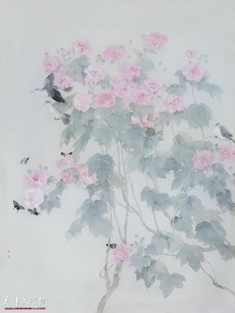 杨娜-画家-《梦入花影醉芙蓉》