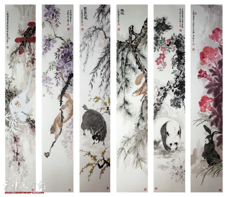 郭志莹-学员-《天趣六条屏》