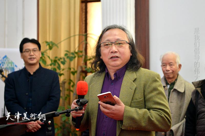 天津美协水彩画专委会会长、天津致公党画院副院长朱志刚致辞。