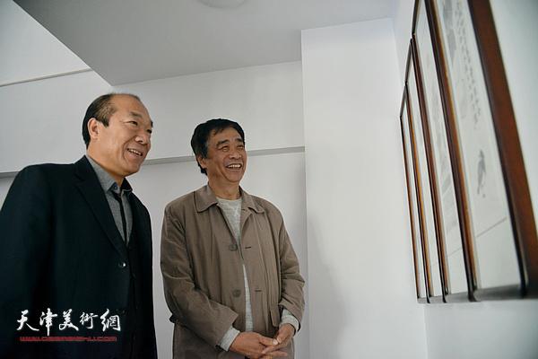 王树秋和姜维群在天津美术网
