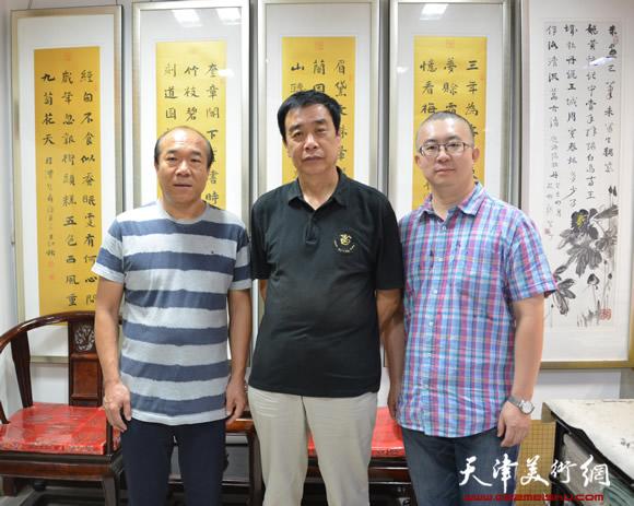 王树秋与姜维群(中)和 齐珏(右)的合影