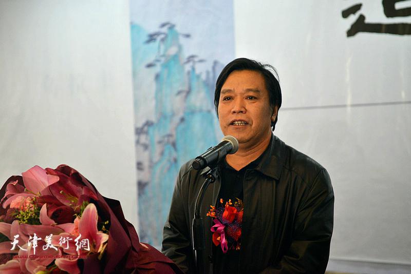 天津美协秘书长李耀春致辞。