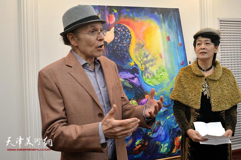 法国国际拍卖行鉴定专家和收藏家芬奇·瑞哈先生致辞。