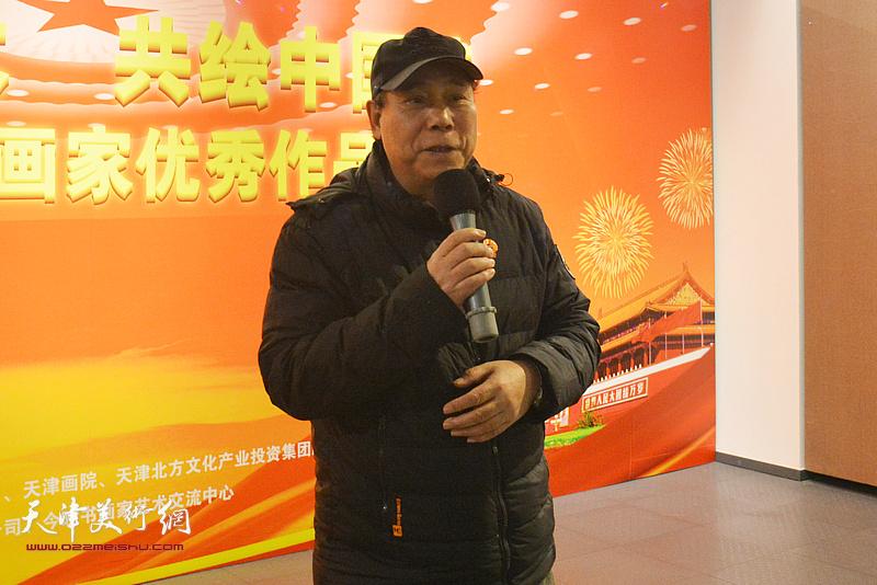 天津画院原副院长、今晚书画家艺术交流中心副主任郭凤祥致辞。