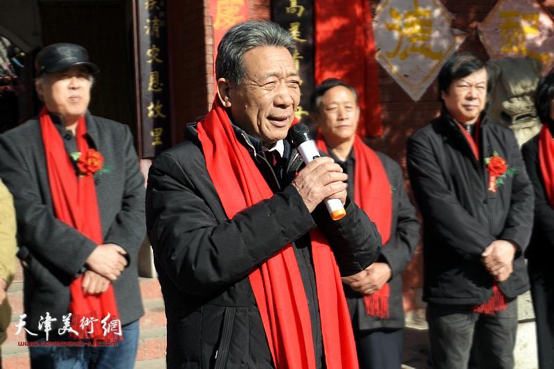 河北省民俗文化协会会长、中国民俗学会常务理事袁学骏致辞。