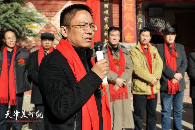 井陉县长岗村党支部书记曾志学致辞。