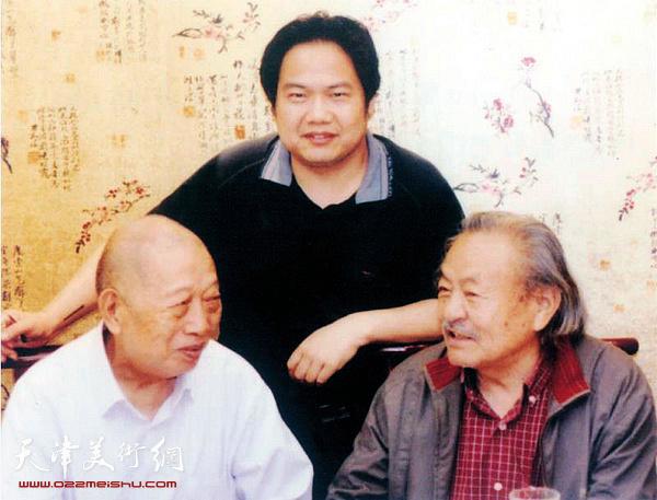 2010年5月,吴燃先生在郑州与老友陈天然、本书编者乔国强合