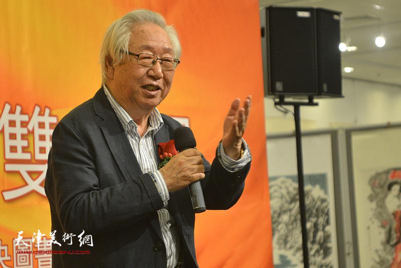 中国画学会常务副会长孙克致辞。