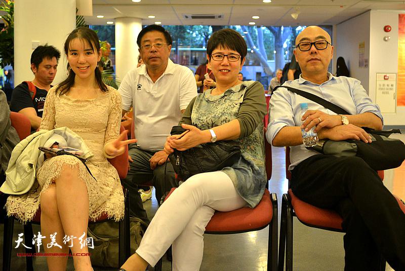 赵俊山、高博、车凤云、徐子涵在开幕仪式现场。