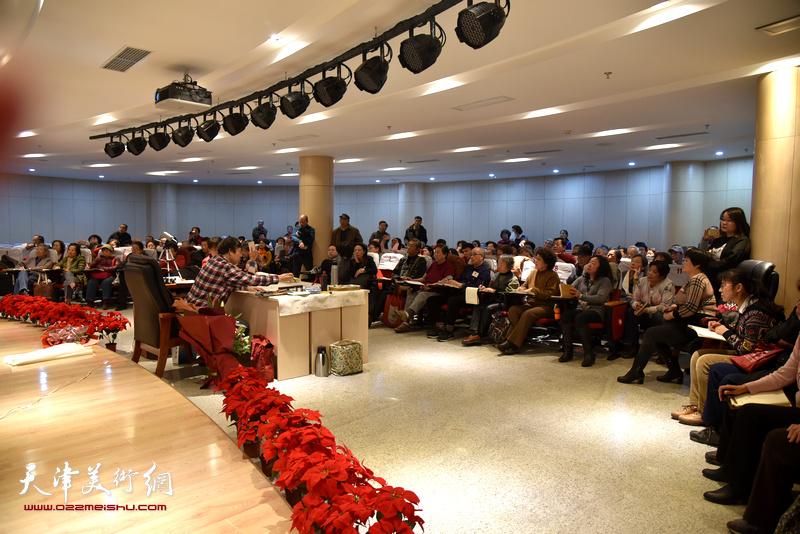 陈元龙在河西文化中心举行举行书画公益讲座