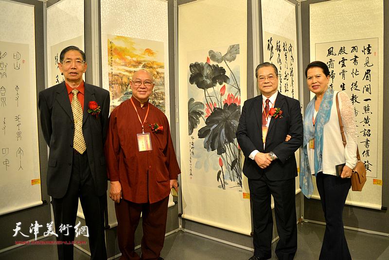 柴寿武与李雄风、刘树德、彭秋梅在开幕式现场。