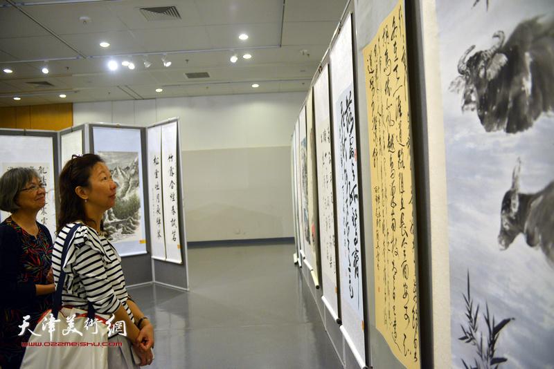 第二届香港国际书画艺术双年展现场。