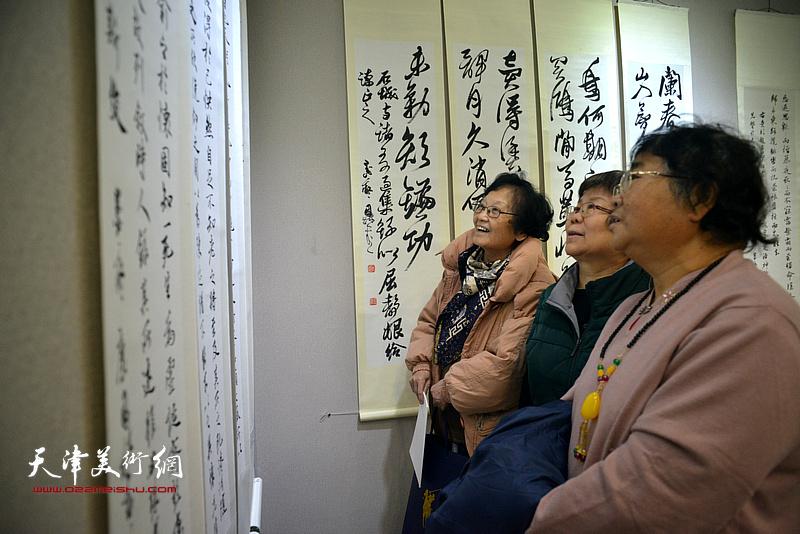 """""""古往今来——书法临帖展""""12月17日在天津市图书大厦书天艺苑美术馆开幕。"""