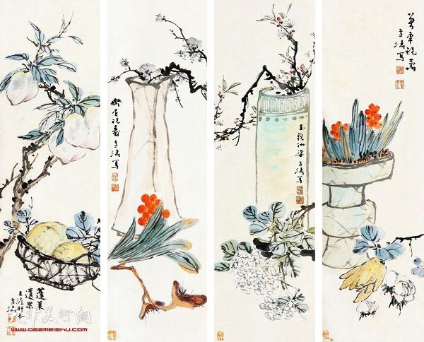 王雪涛《四时花卉》