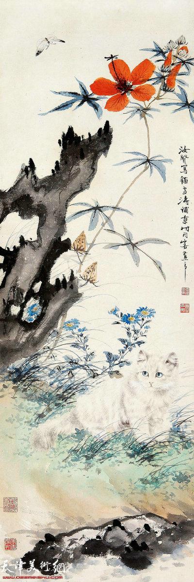 王雪涛、曹克家《耄耋图》