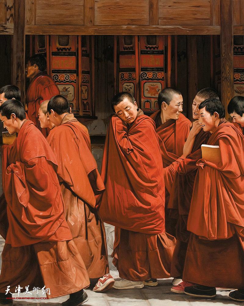 3 《行走西藏》 陈晓虎  150cm×120cm 布面油画 2015