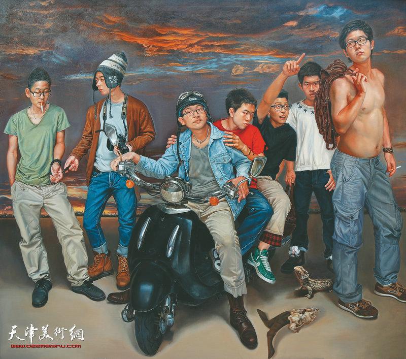 《启程》    200cmX180cm        2013年        布面油画