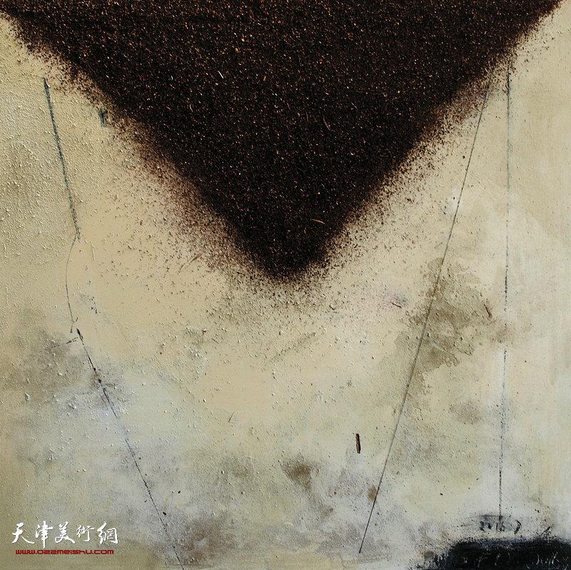 樊莉媛 《红与黑否》150×150cm综合材料2016年