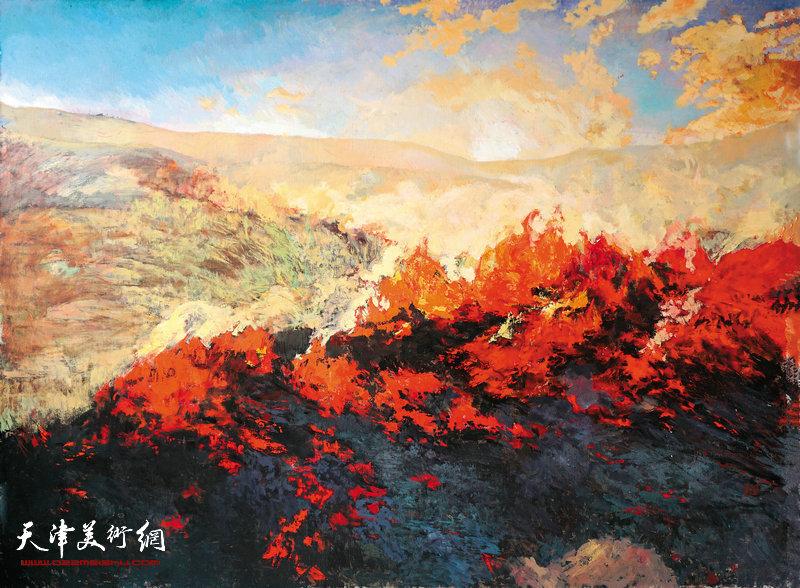 《那烧尽一切的感觉》布面油画150cm200cm