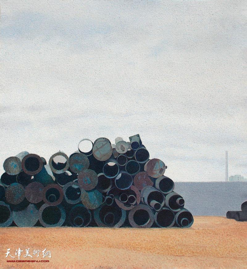 工地(一)布面油画,100x90cm 2016年