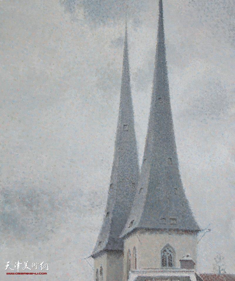 教堂,布面油画,2015年 50x60