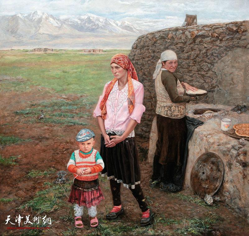 2帕米尔之春 180cm×172cm 布面油画 2014