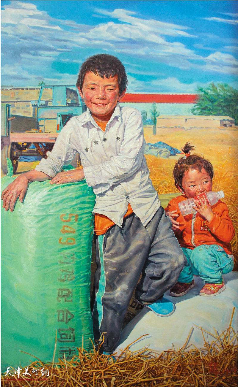 《丰收》135x96cm 布面油画 2014年