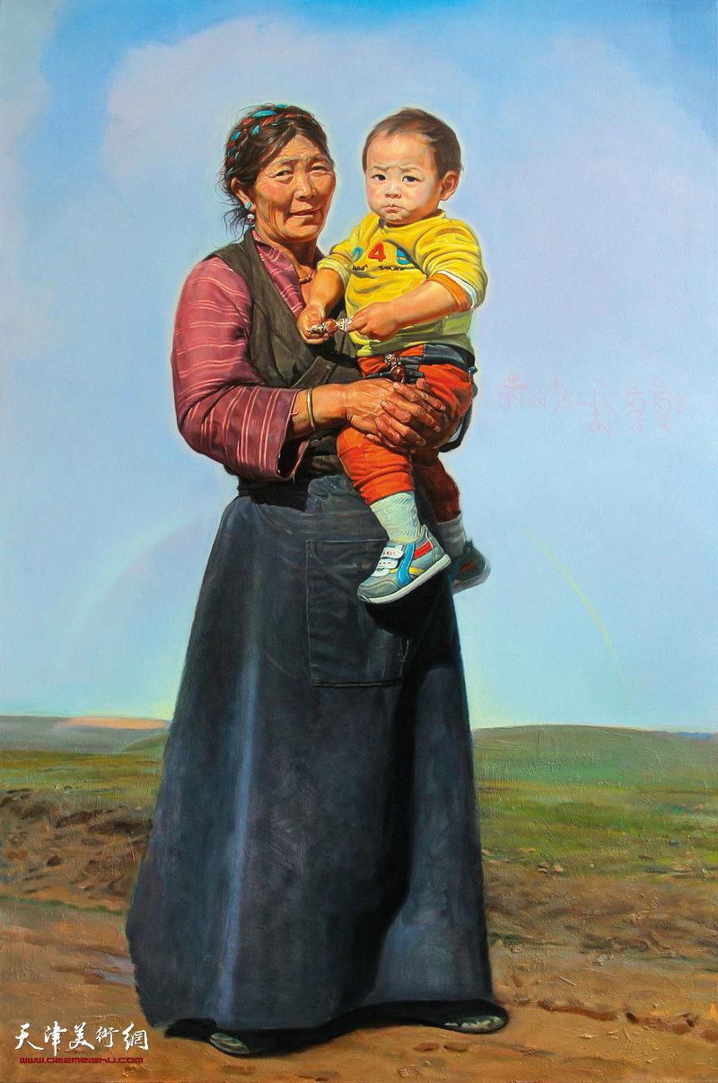 赵国恒《雨过天晴》150X100cm布面油画2015年