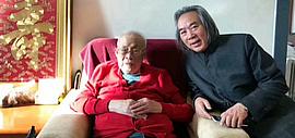 著名画家霍春阳新年前夕看望恩师孙其峰
