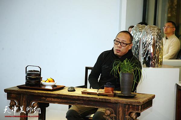 雕塑家谭勋做客竹间书院