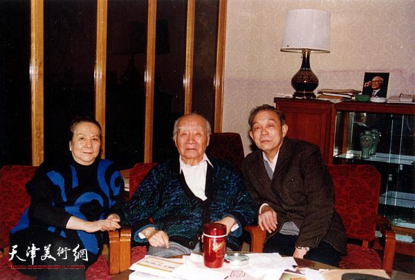 夏明远和上海美专老校长刘海老及夫人