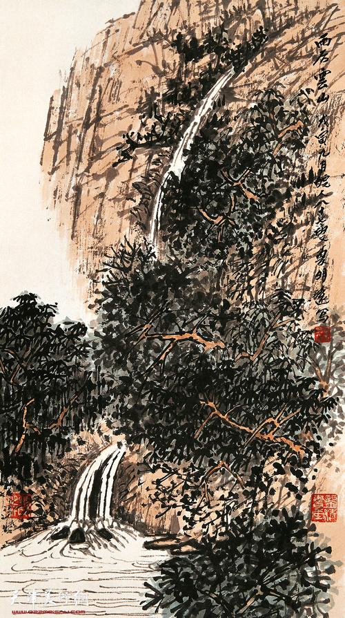 夏明远作品:雨后云山  1999年