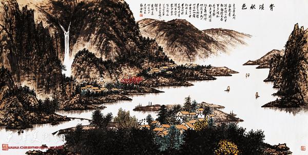 夏明远作品:青溪秋色  2001年