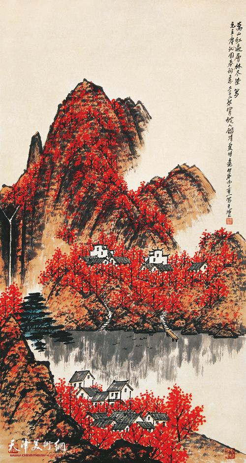 夏明远作品:万山红遍  2002年