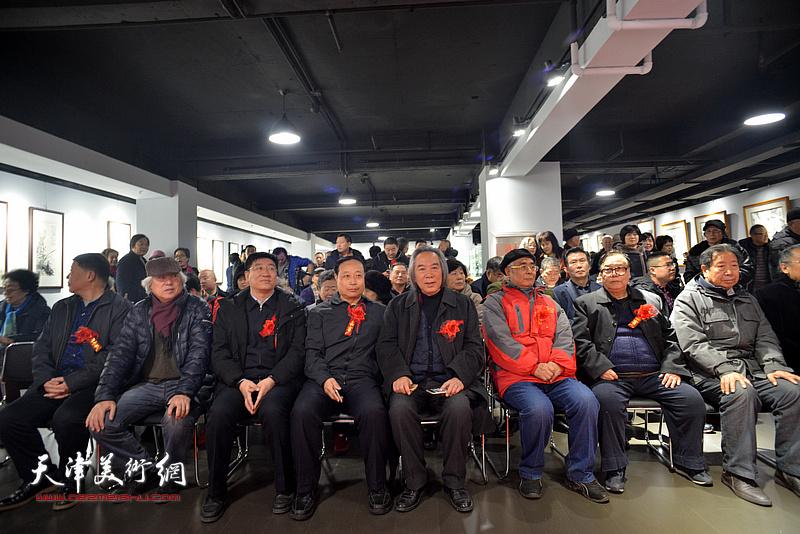"""""""君子同心—陆福林、张法东师生艺术展""""开幕式现场。"""
