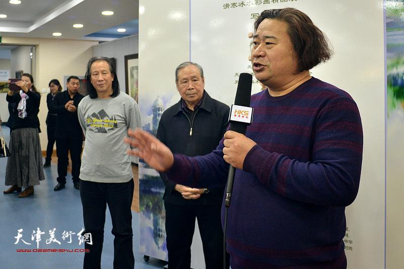 天津市武清区美术家协会主席、天津市美术家协会水彩画专委会副会长杨东风致辞
