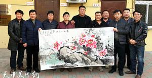 送文化下基层 运河画院携手敖西村共建文化乡村