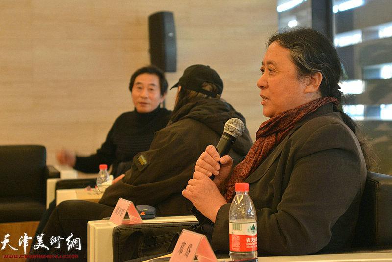 天津美术学院教授郑岱发言。