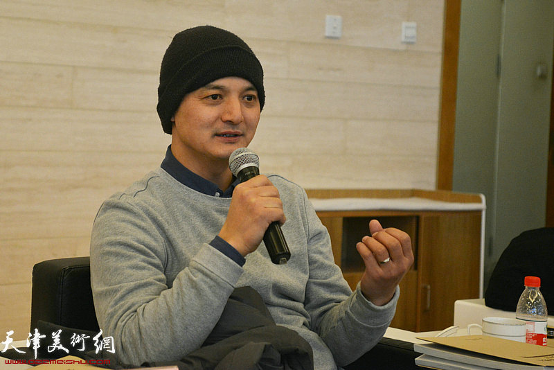 天津美术学院教师窦良羽发言。