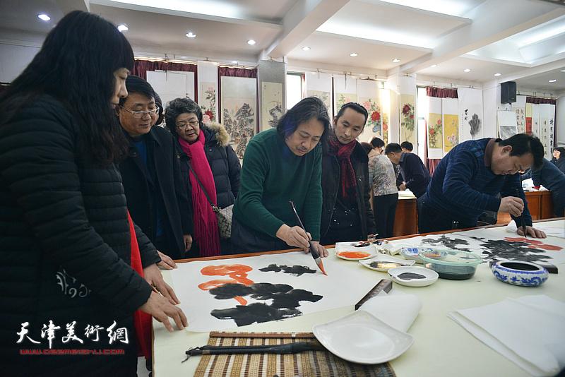 """天津画院""""深入生活、扎根人民—新春走基层活动""""走进西青区邓店村"""