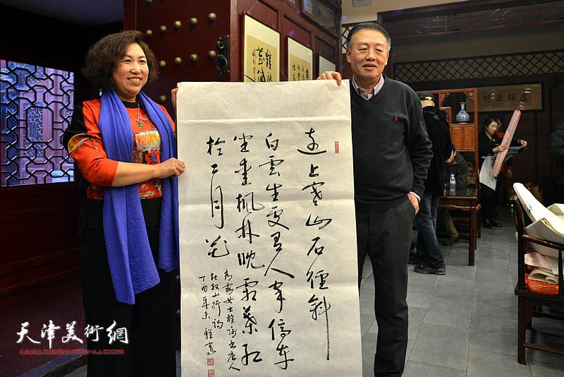 程骞、张秀霞在新春笔会现场。