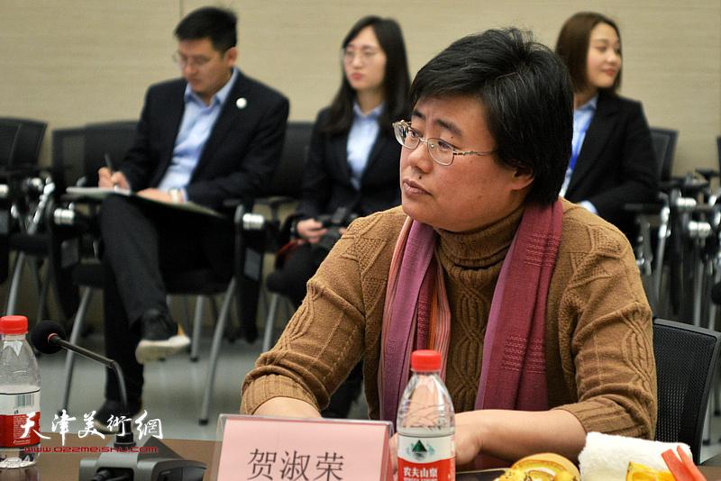 贺淑荣在主题艺术研讨会上。