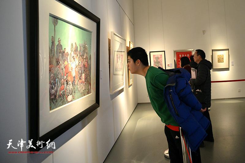 2018中国高等美术院校教师纸本绘画作品展在滨海新区美术馆开幕。