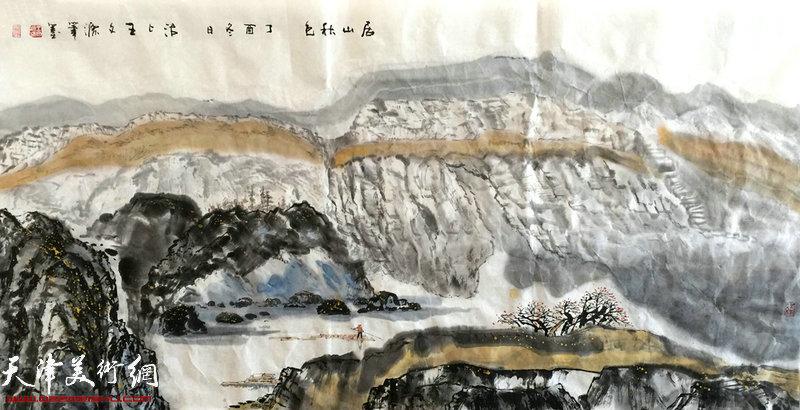 王文元水墨、书法作品展上展出的作品。